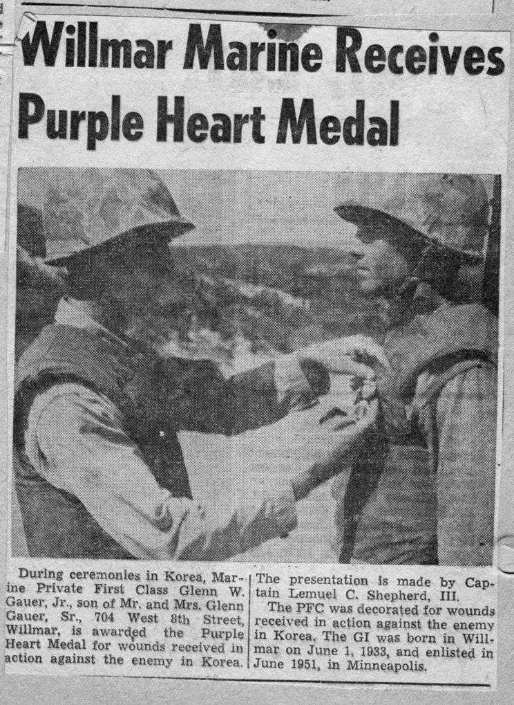 Glen Gauer purple heart