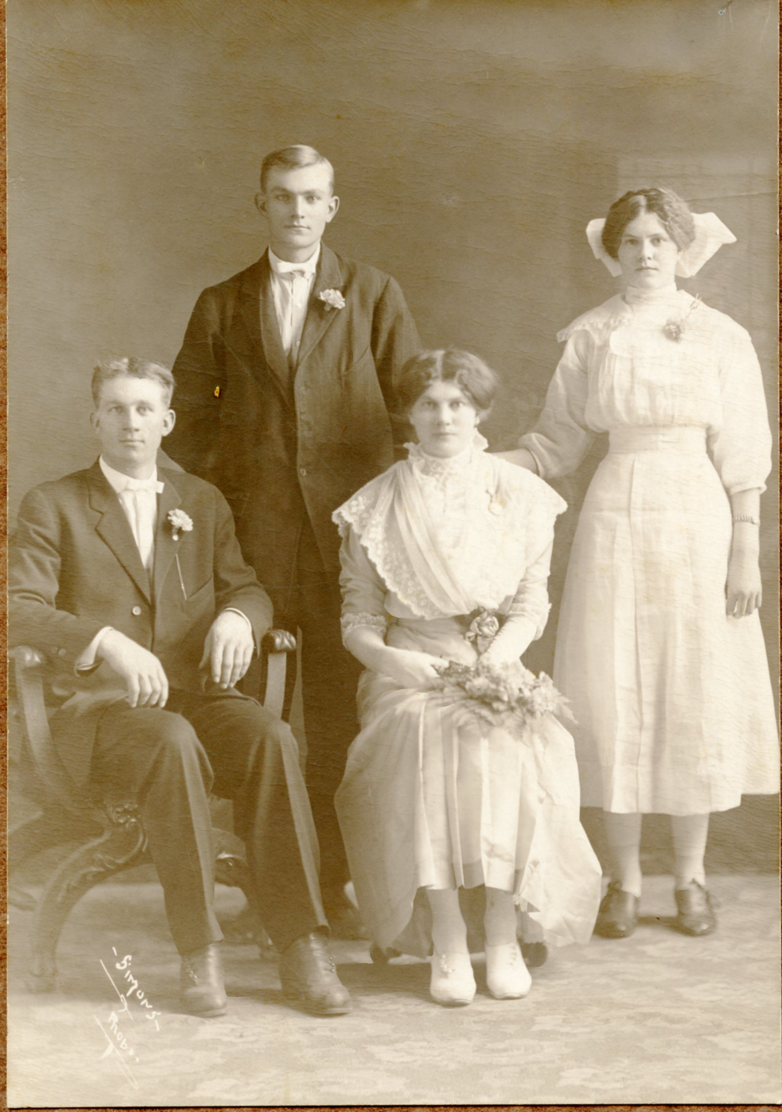 Fred and Amy with her brother Allie and sister Ella