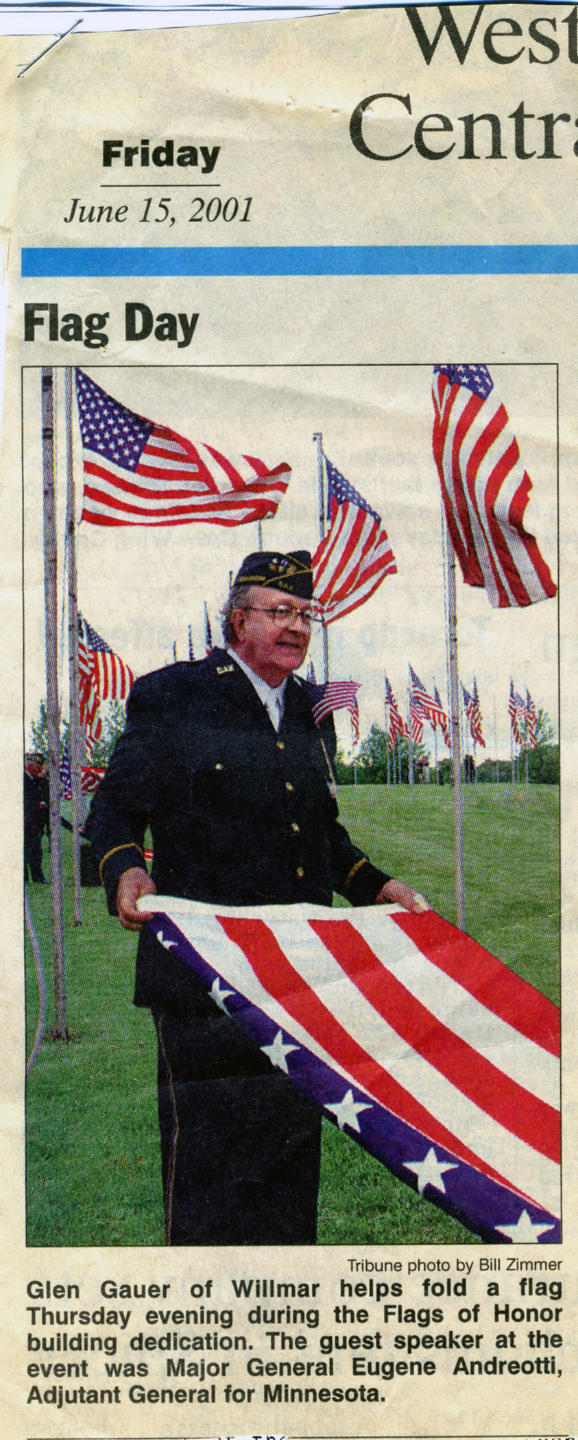 Glen Gauer with flag